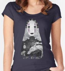 No Face Bathhouse  Women's Fitted Scoop T-Shirt