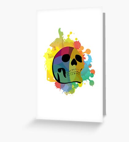 Skull White Greeting Card