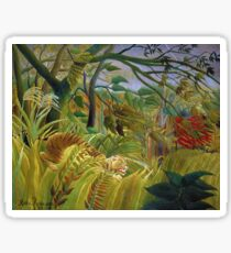 Henri Rousseau - Surprised Sticker