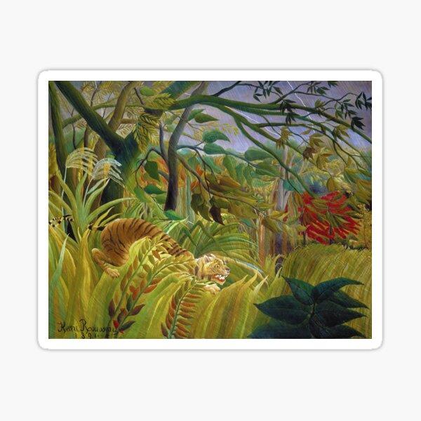 Henri Rousseau - Surprised Sticker