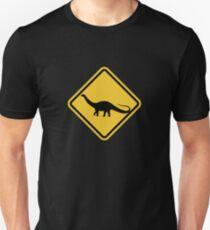 Beware of Apatosaurus Road Sign Unisex T-Shirt