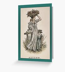 Greetings-Kate Greenaway-Autumn Greeting Card