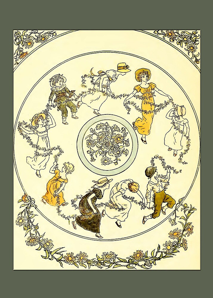 Greetings-Kate Greenaway-Circle of Children by Yesteryears