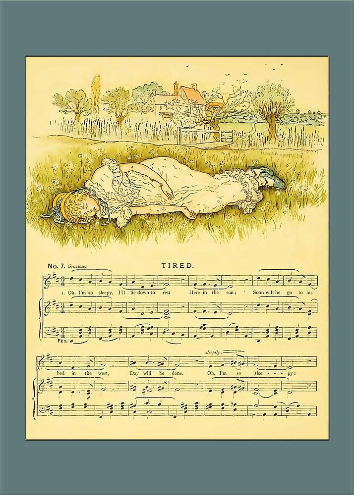 Greetings-Kate Greenaway-Tired by Yesteryears