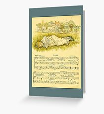Greetings-Kate Greenaway-Tired Greeting Card
