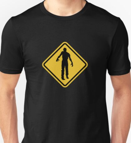 Beware of Zombies Road Sign T-Shirt