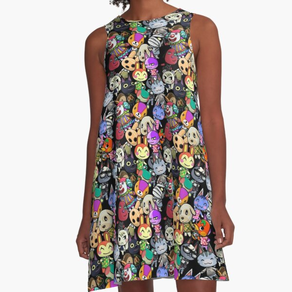 Animal Crossing Character Pattern A-Line Dress
