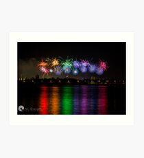 Aus Day Fireworks Art Print