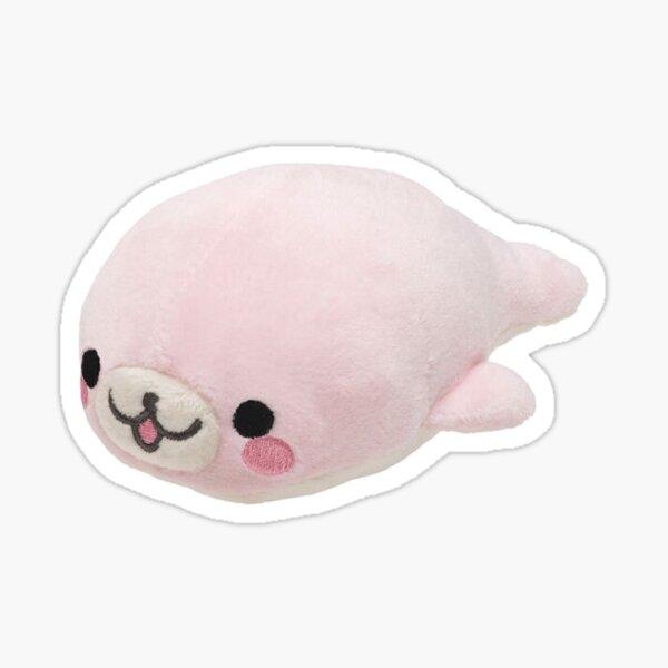 mamegoma pink seal plush Sticker
