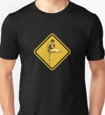 Beware of Ryu Hurricane Kick Road Sign - Second Version Unisex T-Shirt