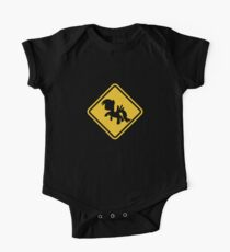 Beware of My Little Pony Road Sign One Piece - Short Sleeve