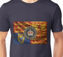 Imperial Tudor Crown over Royal Standard of the United Kingdom Unisex T-Shirt