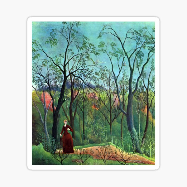 Henri Rousseau - The Walk in the Forest Sticker