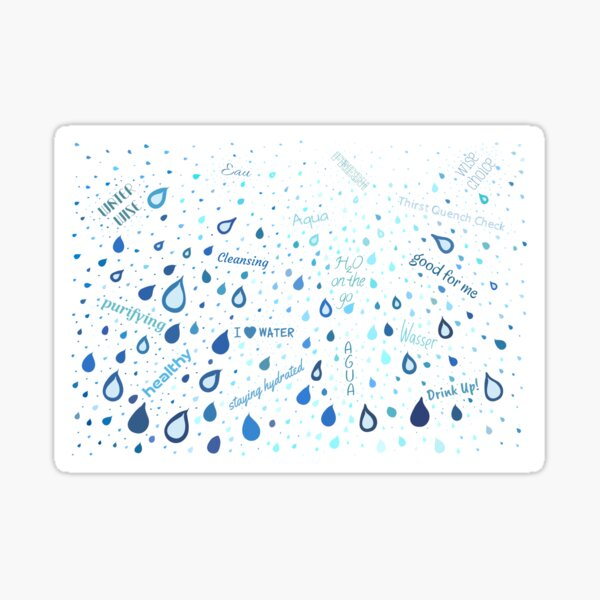 Drink Up! Hydration Motivation Sticker