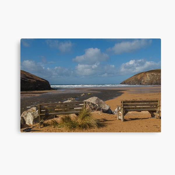 Ocean view at Mawgan Porth  Canvas Print
