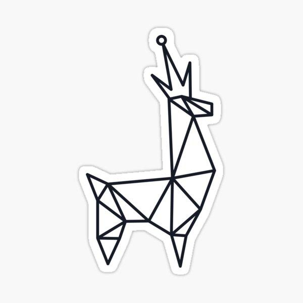 Llama King v.3 Sticker