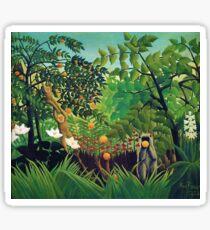Henri Rousseau - Exotic Landscape Sticker