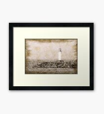 White lighthouse sketch Framed Print
