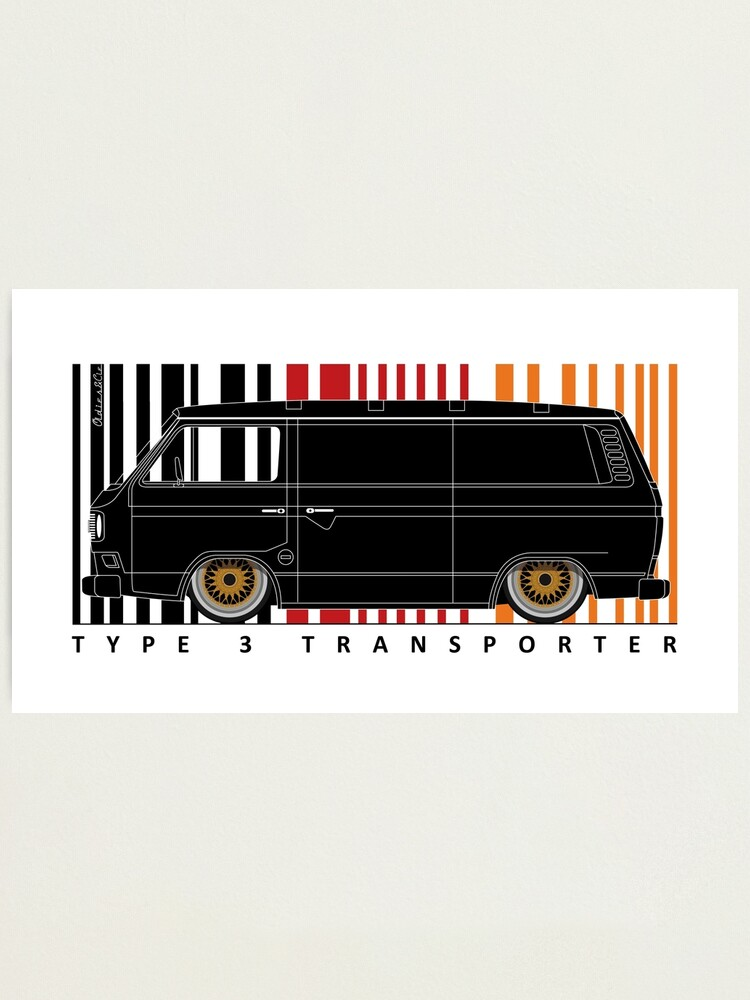 Alternate view of Aircooled type 3 TRANSPORTER Photographic Print