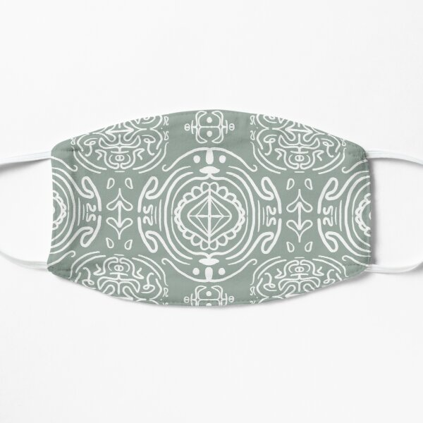 Festive Ice #redbubble #pattern Mask
