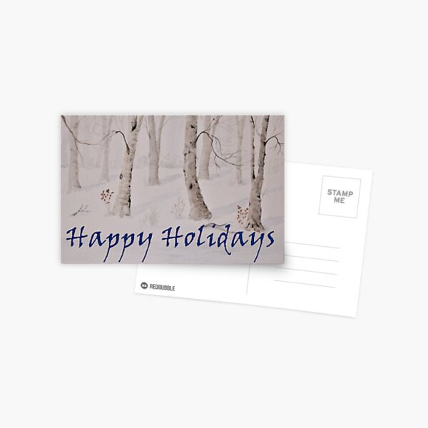 Winter Holiday Cards Postcard