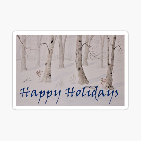Winter Holiday Cards Sticker
