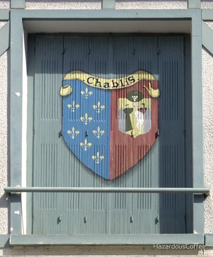 Shuttered Window in Chablis, France by HazardousCoffee