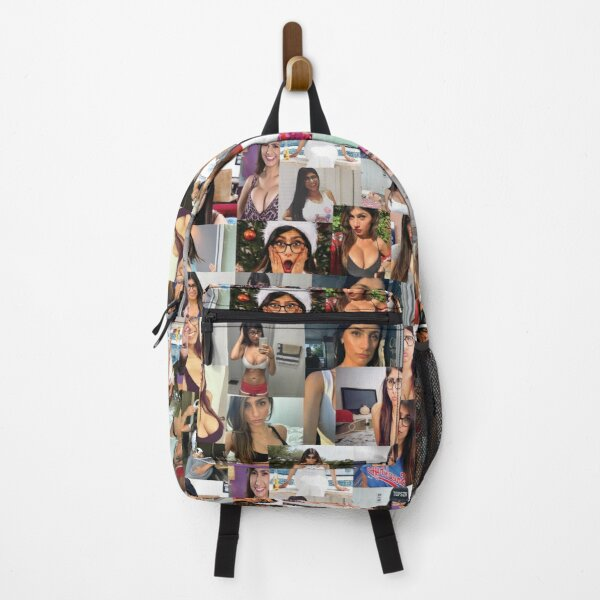 mia kahlifa collage MIA KAHLIFA COLLAGE FOR REAL FANS Backpack
