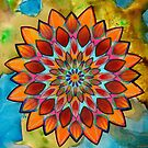 bright floral mandala by resonanteye