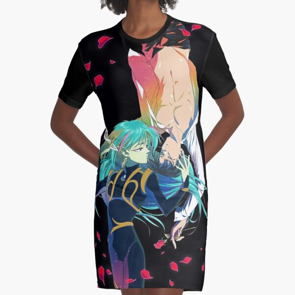 Fiore and Tuxedo Mask ~ Sailor Moon R - The Promise of the Rose LGTB Graphic T-Shirt Dress