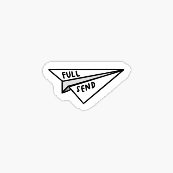 Nelk Full Send Paper Airplane Sticker