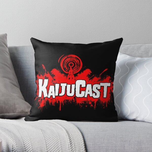 Kaijucast Splatter logo Throw Pillow