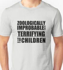 Zoologically Improbable { Black Text } Unisex T-Shirt