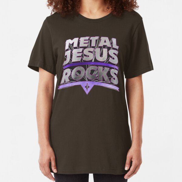 Metal Jesus Rocks Slim Fit T-Shirt