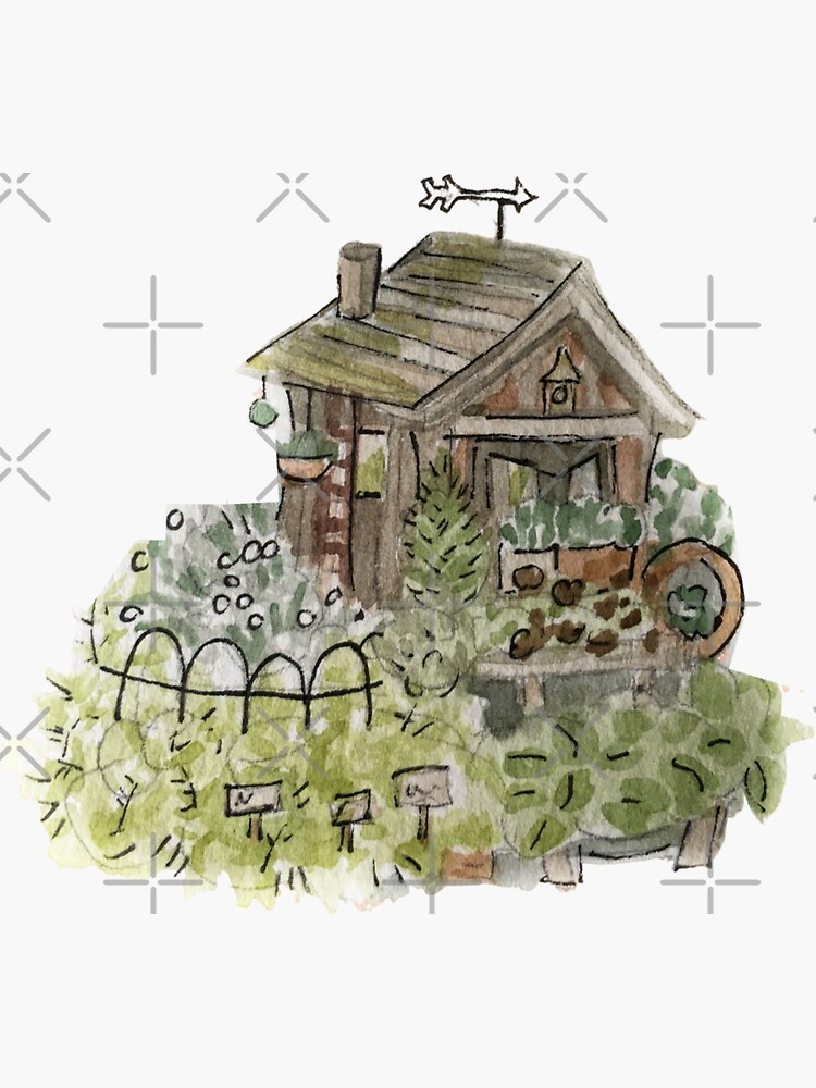 Hedge Witch Garden Shed - Green House Witchy  by WitchofWhimsy