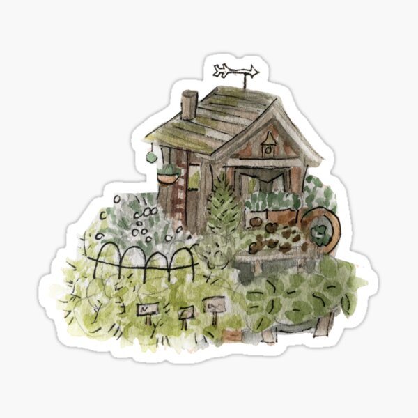 Hedge Witch Garden Shed - Green House Witchy  Sticker