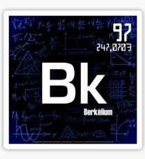 Berkelium Sticker