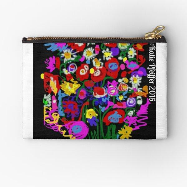 Mod Pop Art Flower Bouquet Zipper Pouch