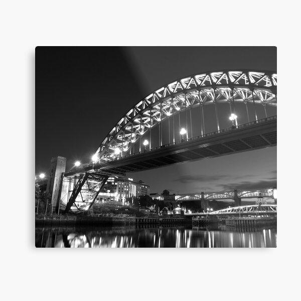 Mono Tyne Bridge Metal Print