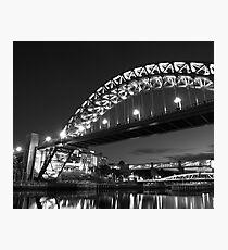 Mono Tyne Bridge Photographic Print