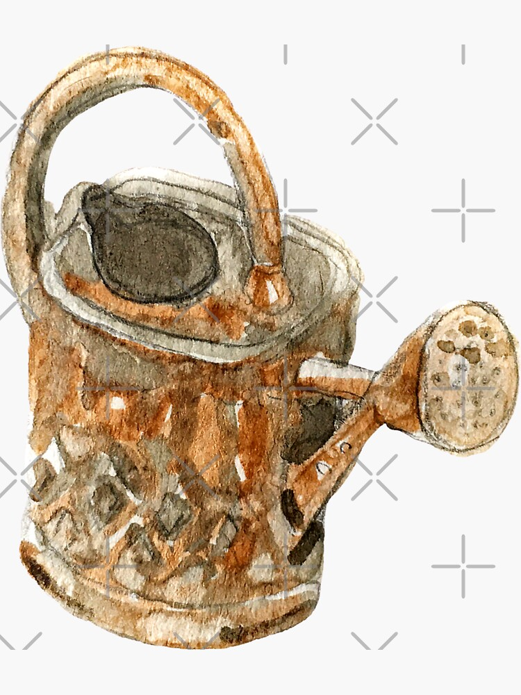 Hedge Witch Copper Watering Can - Antique Watering Can  by WitchofWhimsy