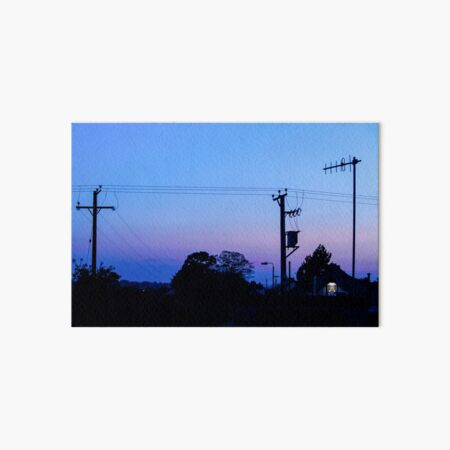 Sunset Power Lines Art Board Print