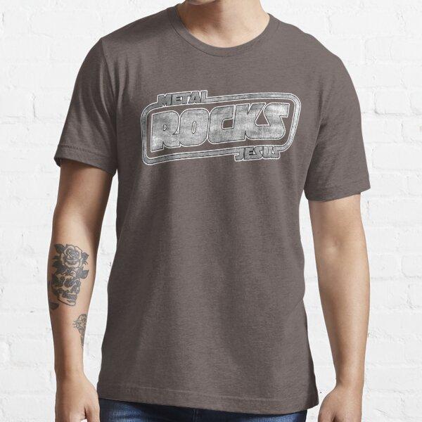 Metal Jesus Rocks - GUN METAL LOGO Essential T-Shirt
