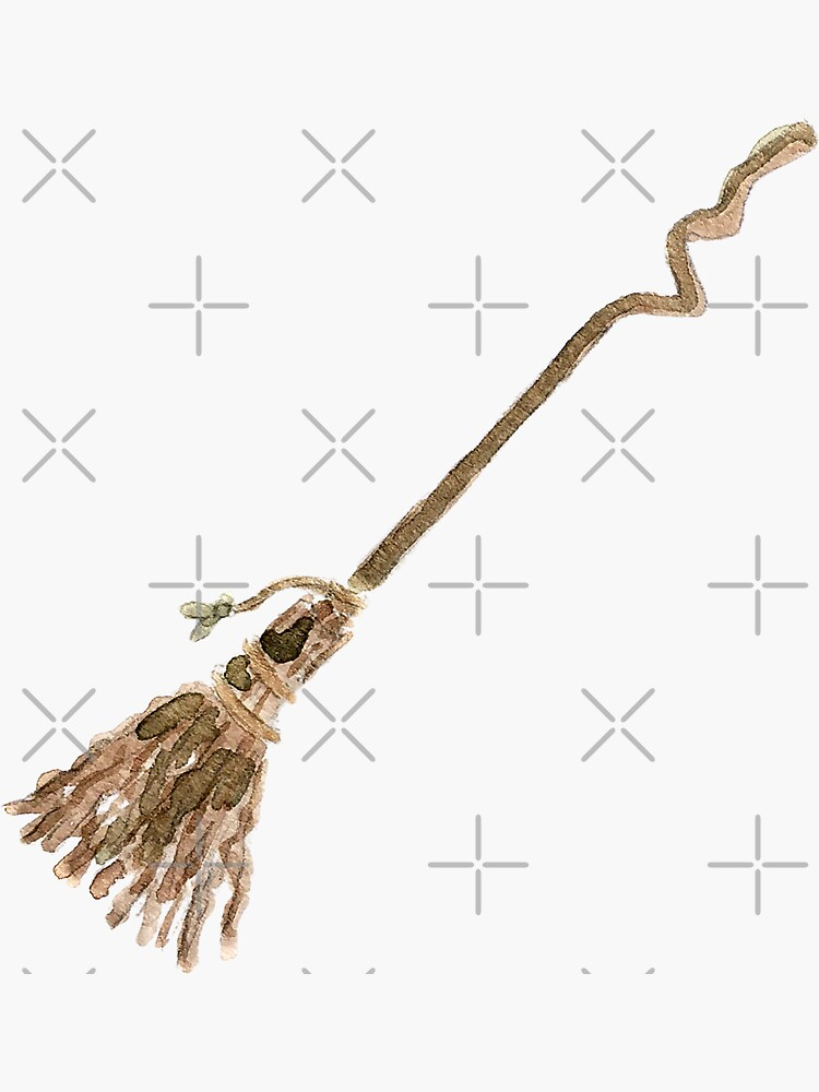 Crooked Rustic Broom - The Hedge Witch's Broom  by WitchofWhimsy