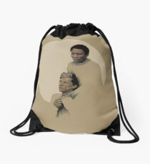 Troy and Abed being sad Drawstring Bag