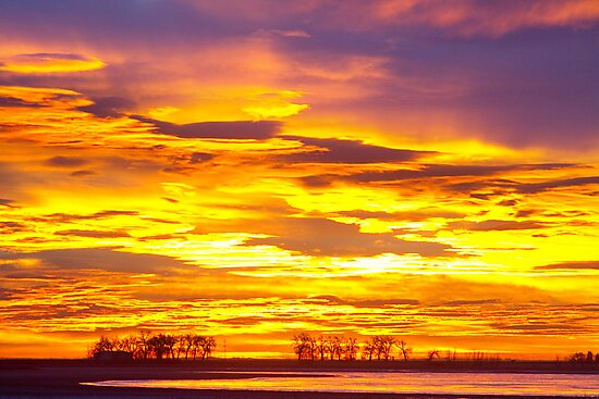 Sunrise Bright Union Reservoir by Bo Insogna