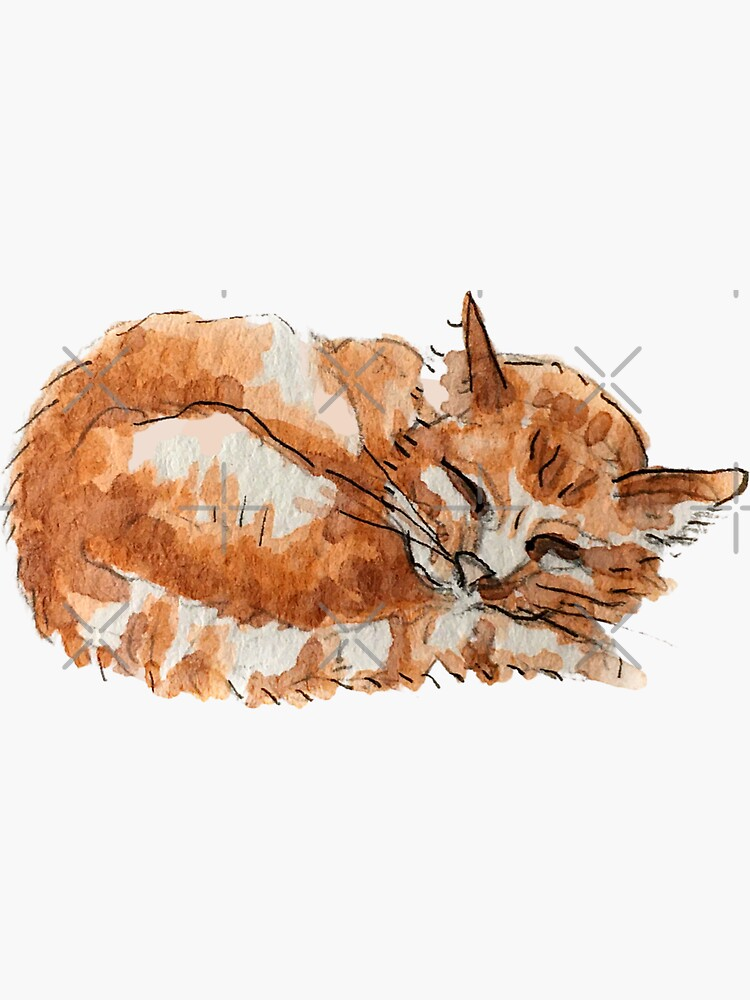 Ginger Tabby Cat - Hedge Witch's Kitty  by WitchofWhimsy