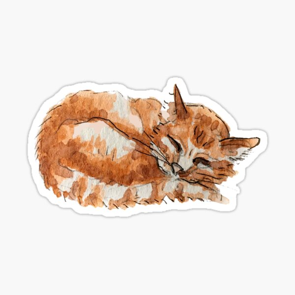 Ginger Tabby Cat - Hedge Witch's Kitty  Sticker