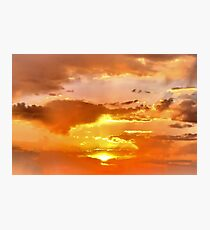 Sunrise over Texas Photographic Print