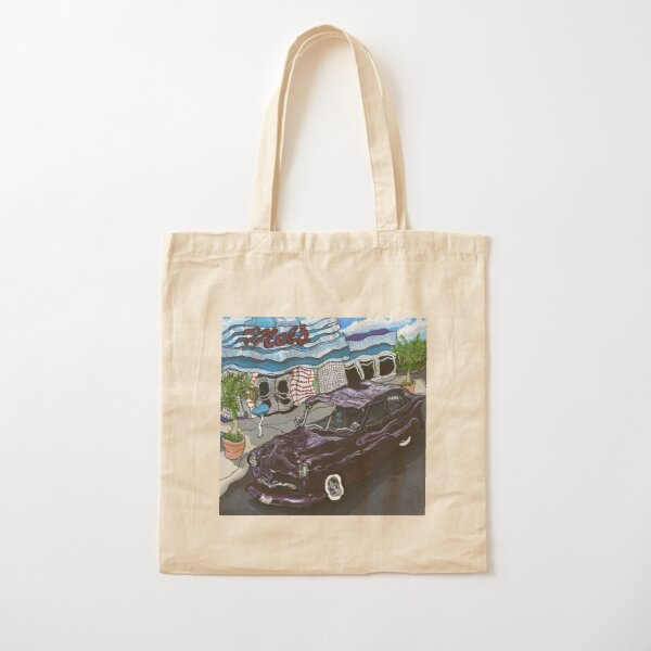 Mel's Diner ~ Painting by Dawn Langstroth ©2018  Cotton Tote Bag